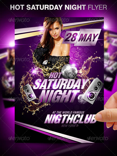 Hot Saturday Night Party Flyer_20
