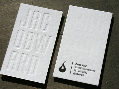 25 Clean & Elegant Letterpress Business Cards | Business Card