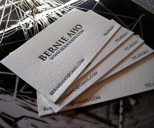 Letterpress Business Card for Local Potographer_22