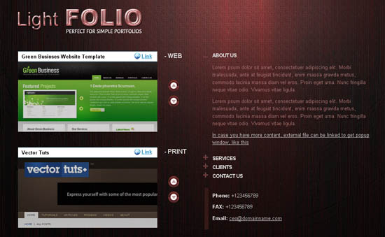 Light FOLIO Single Page Website Template _4