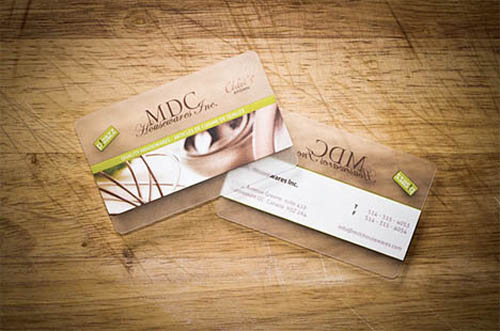 MDC Transparent Business Card