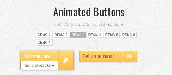 6 Totally Awesome Web Button Tutorials Using CSS3 Transitions & Animations