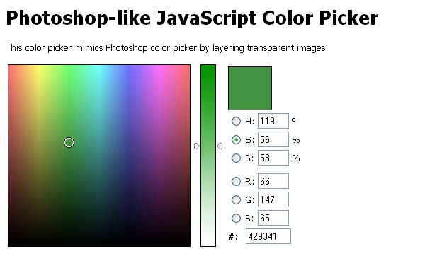 10 Cool Color Picker Scripts | jQuery | iDesignow