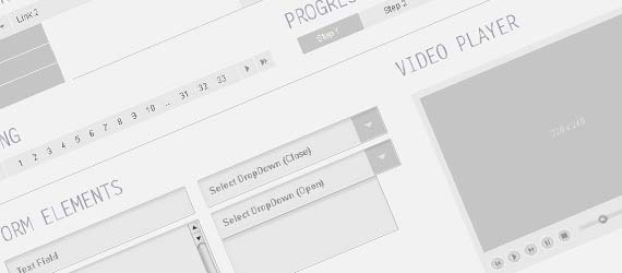 10 PSD Web Wireframe UI Kits