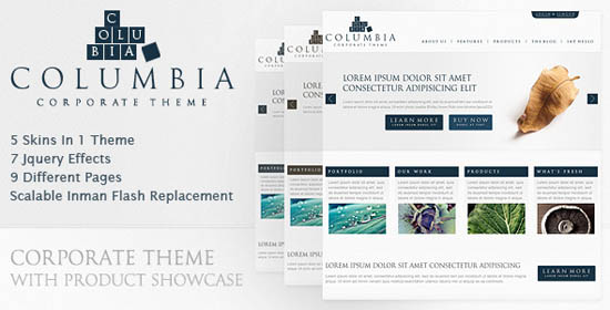 Columbia Corporate Theme with Product Showcase_21