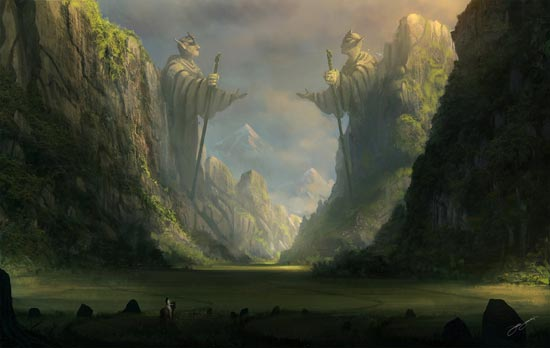 Through the ancient valley by Blinck