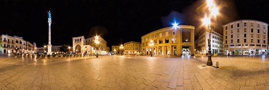 Around My Square - Piazza S.Oronzo Lecce - Salento - Puglia (Urban panoramic exam) (8 vertical shots sticked) by Gojca?
