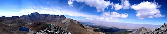 Xinantecatl Volcano b.k.a. Nevado de Toluca panoramic view from Eagle's peak by gattonelblu