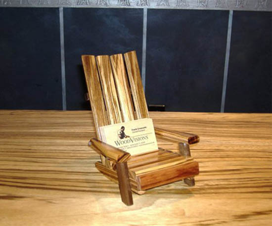 Creative Wood Business Card Holder