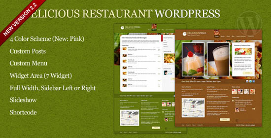 Delicious Restaurant WordPress_2