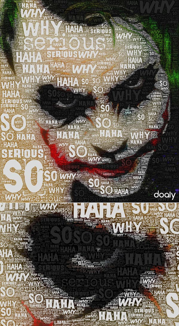 Joker Typography Poster Vector