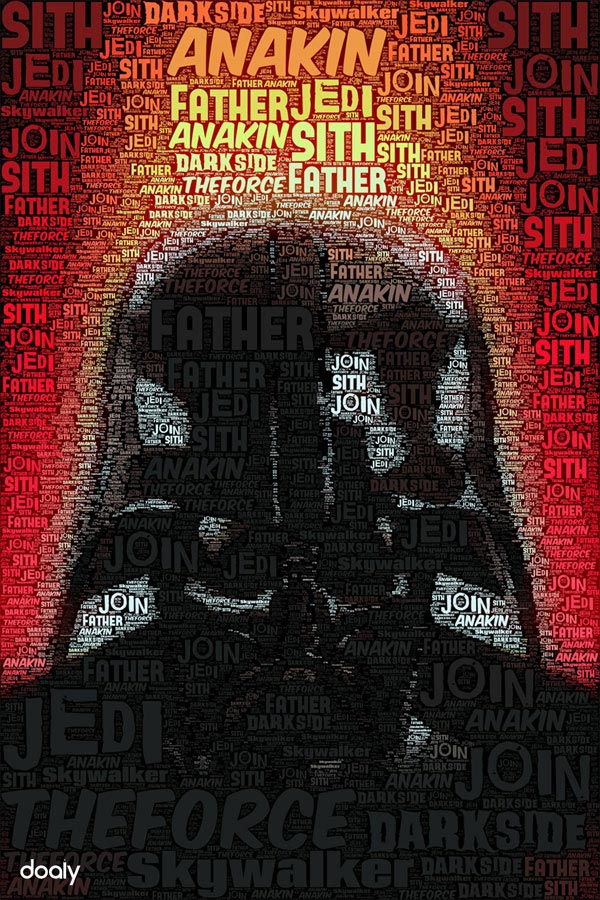 Darth Vader Typography Poster