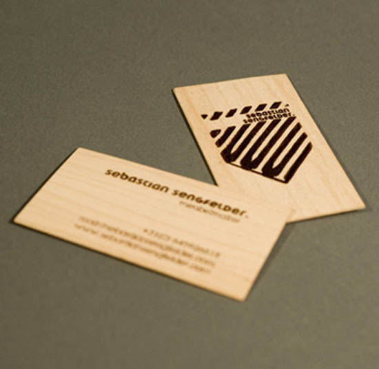 20 Interesting Wood Business Cards
