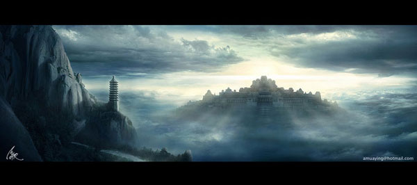 Matte Painting :Beyond The End Of Cloudland, Mu Tao (2D)