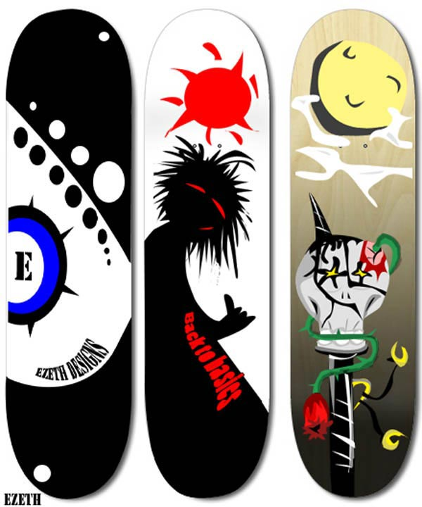 Ezeth skateboard designs