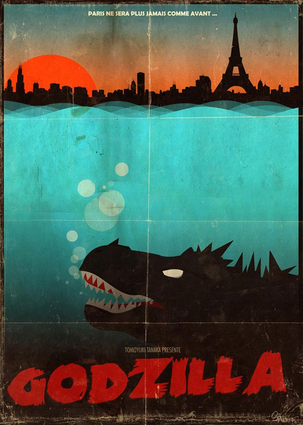 Paris attacked by Godzilla !