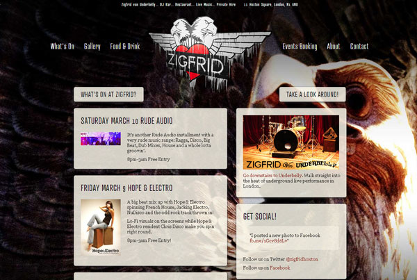 Zigfrid von Underbelly | Hoxton | Shoreditch |   Bar, Restaurant, DJs, Live Music, Private Hire