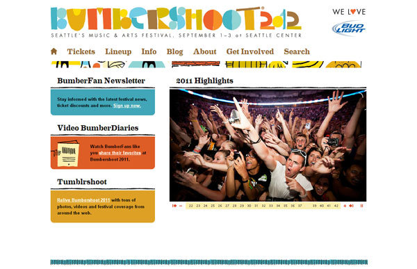 Bumbershoot | Seattle's Music & Arts Festival | September 1-3, 2012