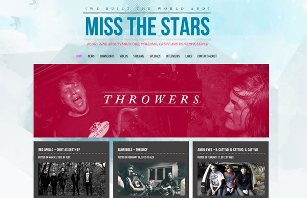 Miss the stars | Blog | Zine | Hardcore | Screamo | Crust | Powerviolence