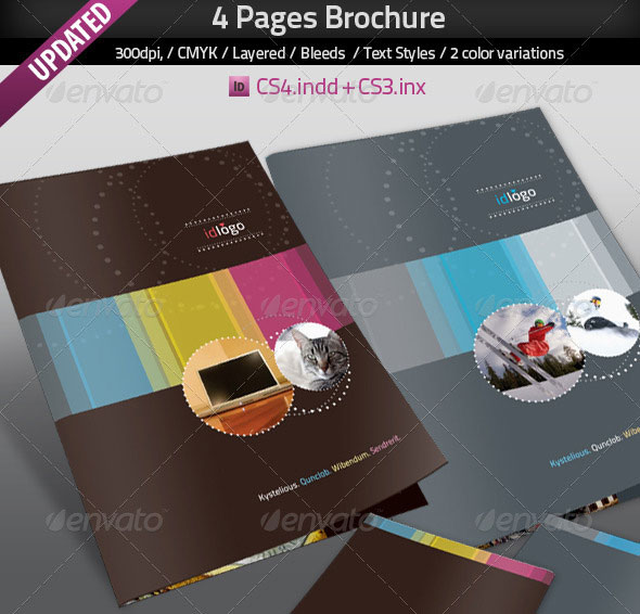 50 business brochure templates template idesignow for Adobe indesign brochure templates
