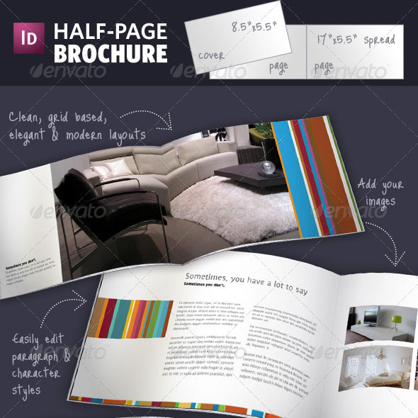 Business Brochure Templates Template IDesignow - Brochure design templates indesign