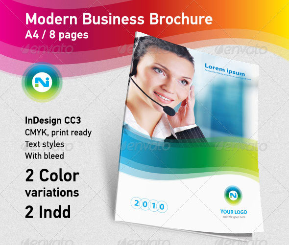 Modern Business Brochure A4 8pages