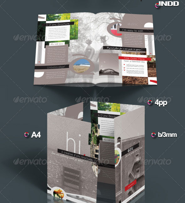 Creative Template Pro v1 / InDesign A4 4pp