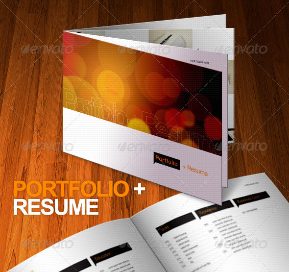 Portfolio + Resume Brochure 8 Pages