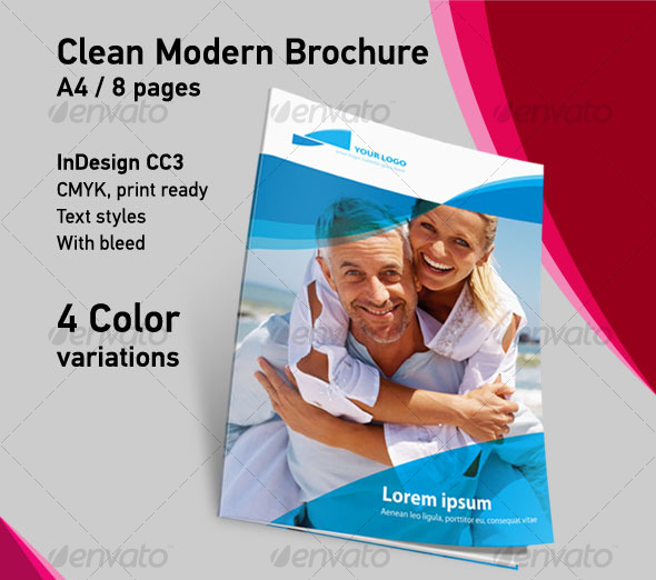 Clean Modern Brochure A4 8 Pages