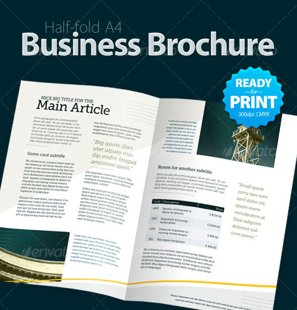 business brochure 4 pages