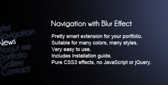 Navigation with Blur Effect (CSS3)