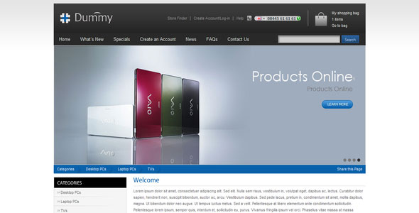 Ecommerce Store Shopping HTML template