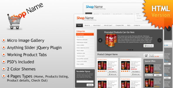 Shop Name HTML Version (Online Store)