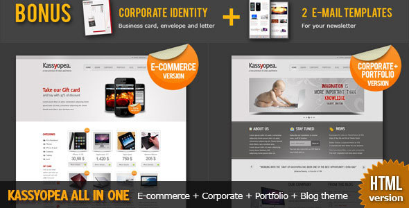 Kassyopea: Ecommerce + Corporate HTML theme