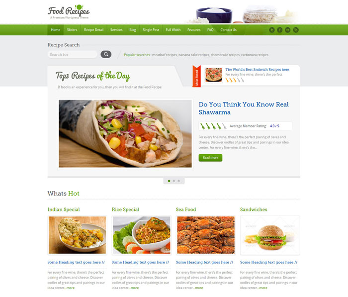 10 beautiful restaurant cafe website templates template food recipes 10 pronofoot35fo Choice Image