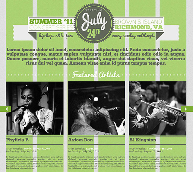 Concert Series Website