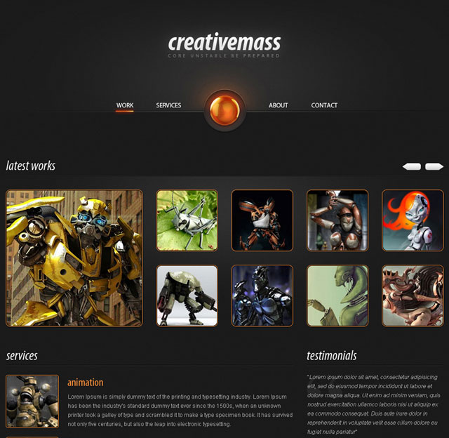 """Creative Mass"" a Stunning One-Paged Website Template"