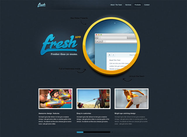 Fresh App - Free Website Desgin PSD