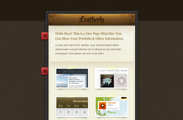 Leatherly – One Page Site Template (PSD)