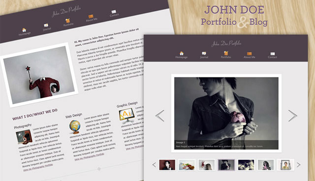 PSD Template for Portfolio & Blog