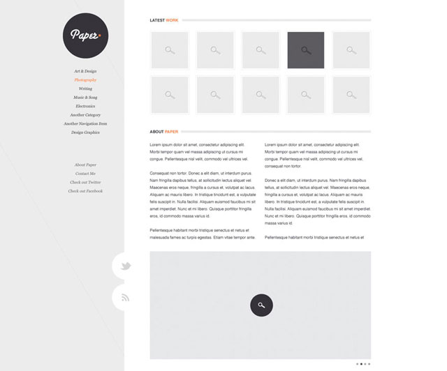 Paper - Clean, crisp blog design
