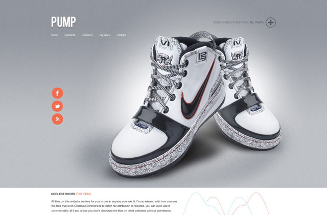 Pump - A free website PSD design