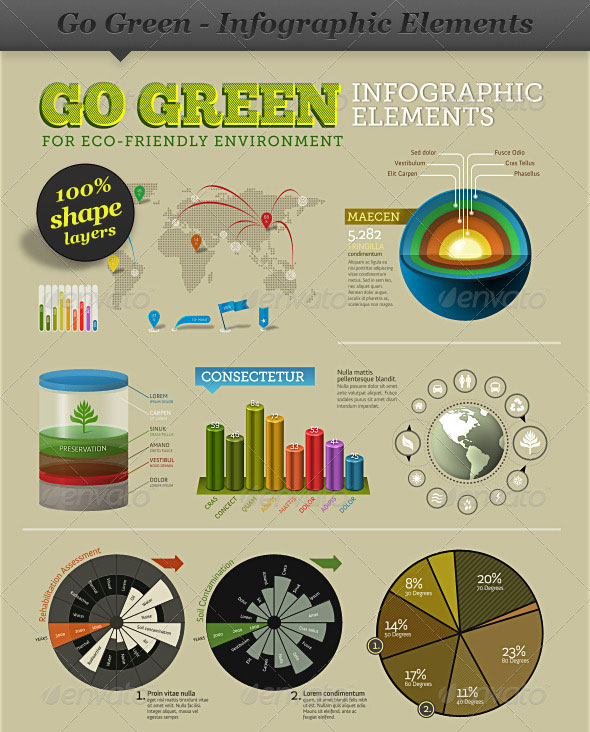 Go Green - Infographic Elements - info template