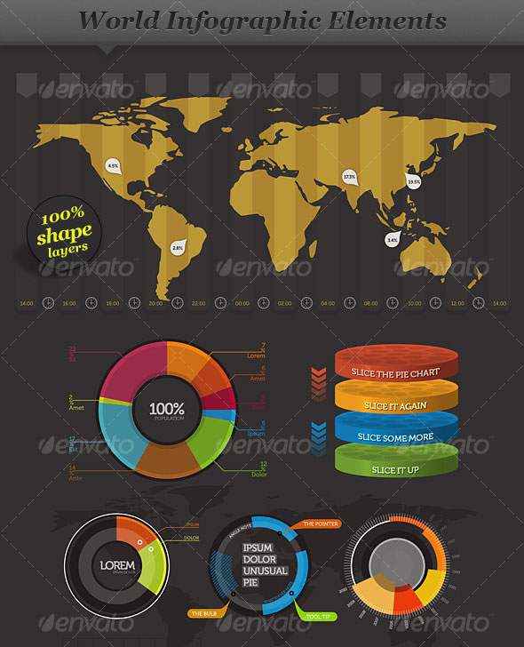 World - Infographic Elements - Visual Information
