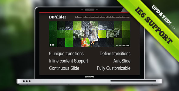 DDSlider - 10 Transitions - Inline Content Support