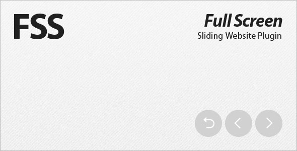 FSS - Full Screen Sliding Website Plugin