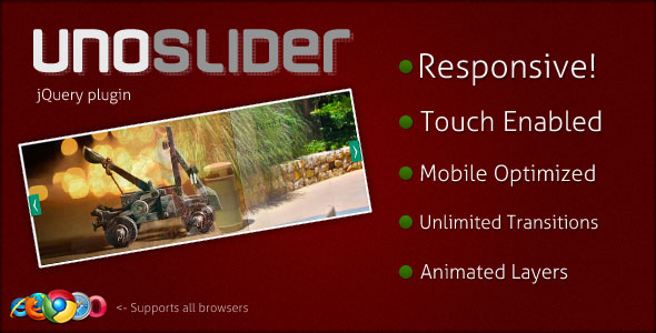 UnoSlider - Responsive Touch Enabled Slider