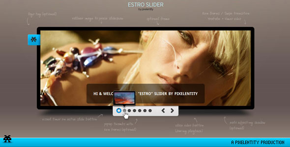 Estro - jQuery Ken Burns & swipe effect slider