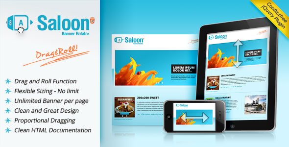 Saloon - The jQuery Banner Rotator Plugin