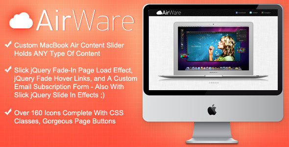 AirWare Mac App Website Template